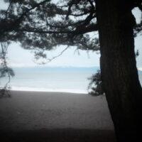 Miho Beach in the rain