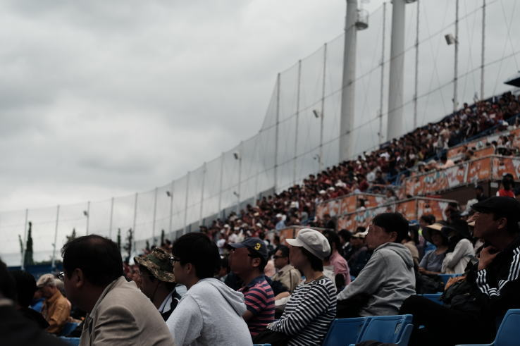 spectators at Jingu Stadium