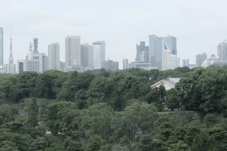 The heart of Tokyo seen from the Imperial Palace