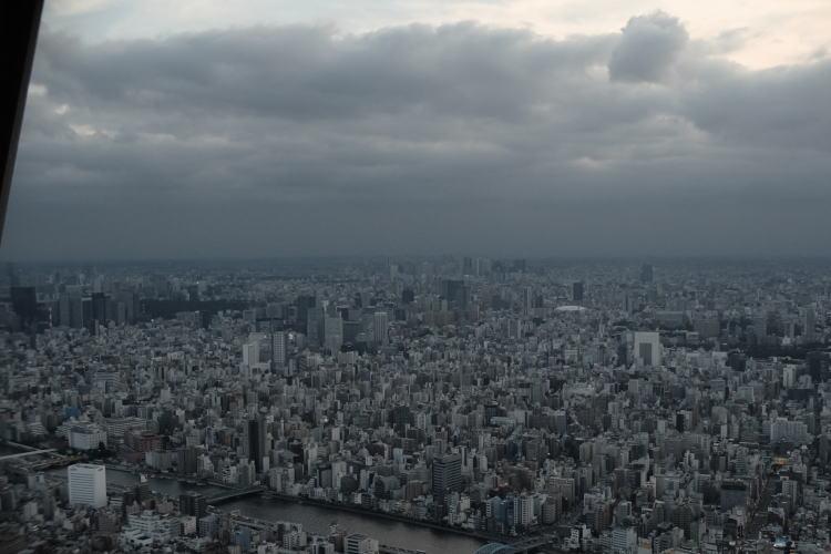 Overlooking the Tokyo Metropolis from Tokyo Skytree