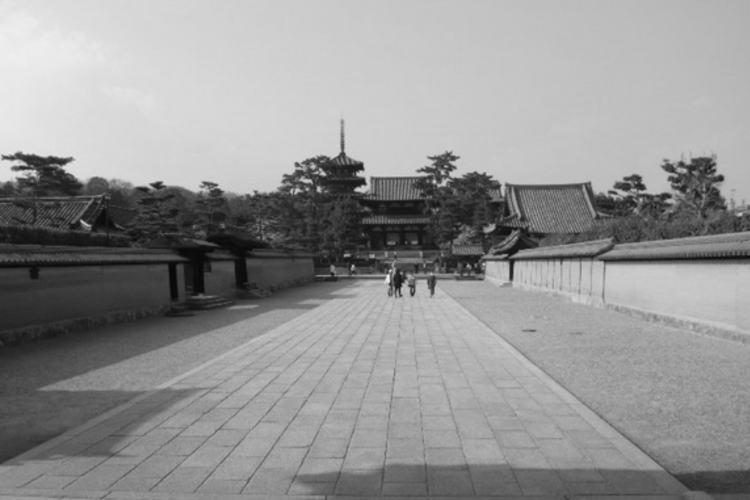 Horyu-ji in Nara. (奈良の法隆寺)