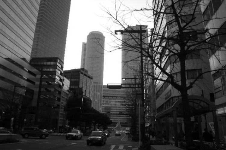 the street in front of JR Nagoya Station