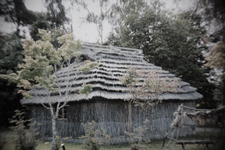 Ainu house called cise in Hokkaido