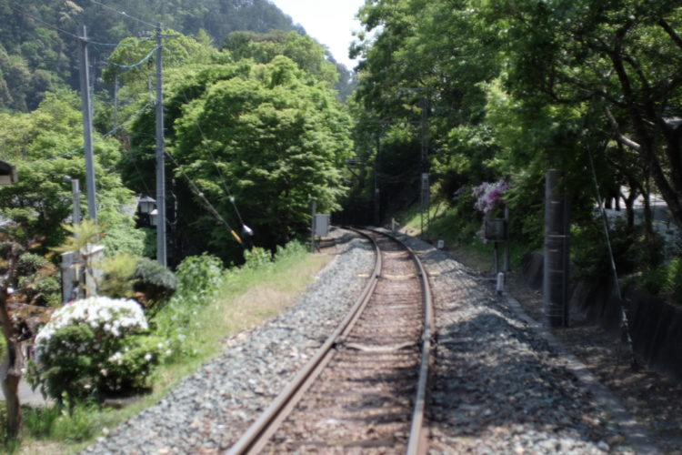 The track of the Iida Line in Aichi Prefecture, Japan