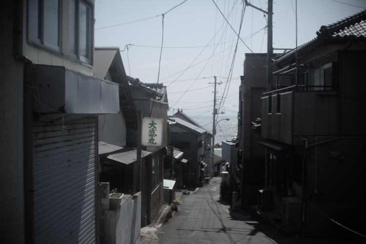 Tokawa fishing town in Choshi, Japan (銚子市外川の街並み)