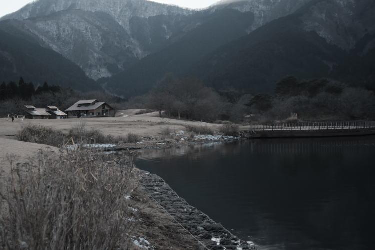Lake Tanuki in winter (冬の田貫湖)