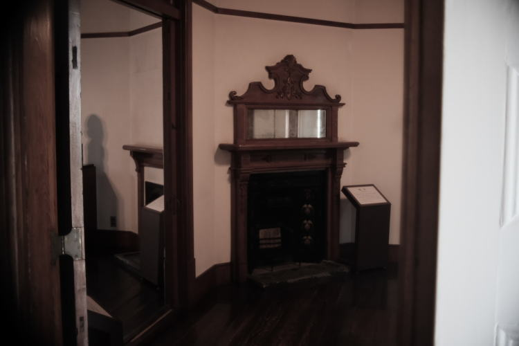Fire-place mantel at the Old Missionary House in Tokyo.