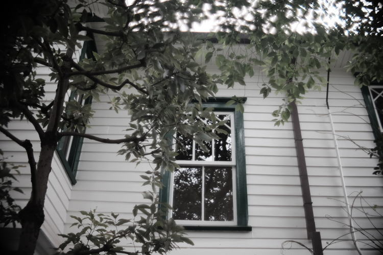 The window on the old missionary house in Japan.