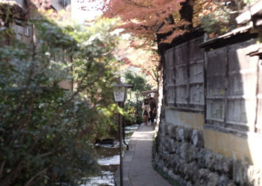 Walkway along the water in Gujo Hachiman