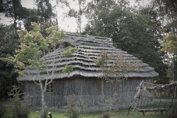 Traditional Ainu house (cise) (アイヌのチセ)