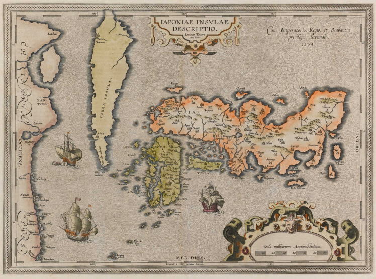 The map of Japan by Abraham Ortelius (オルテリウスの日本地図)