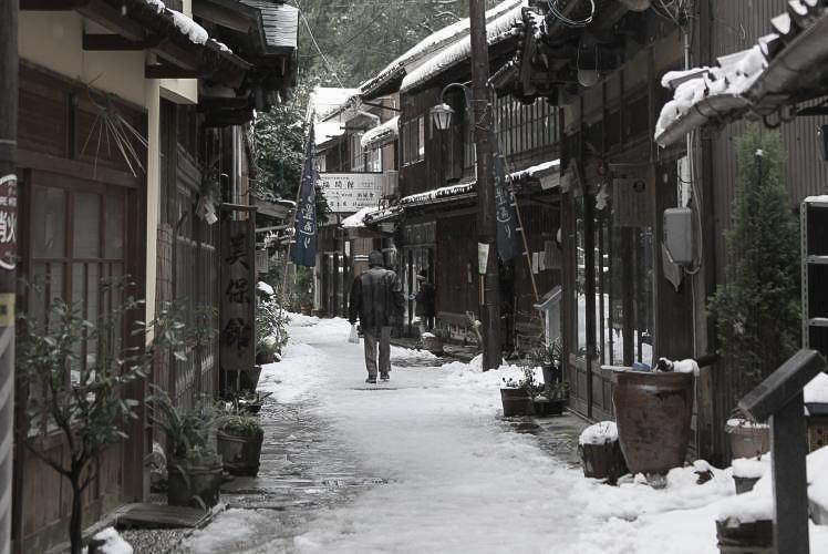 An old street of Mihonosaki, Matsue(美保関の青石畳通り)