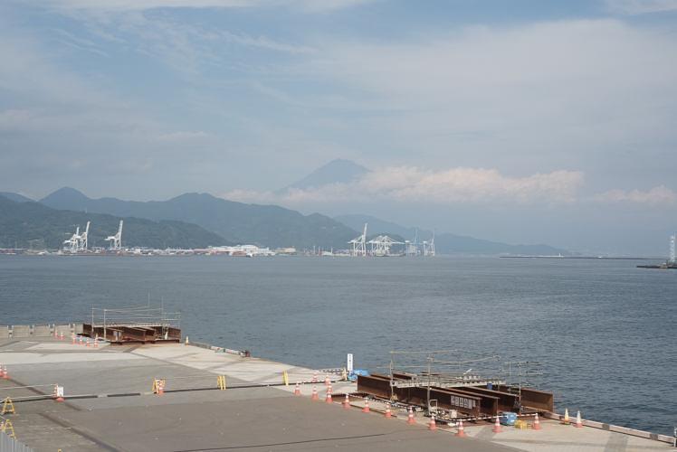 Mt. Fuji as seen from Shimizu Port