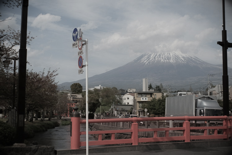 Mt. Fuji seen from Sengen Taisha Shrine (Flektogon 35mm f2.8)