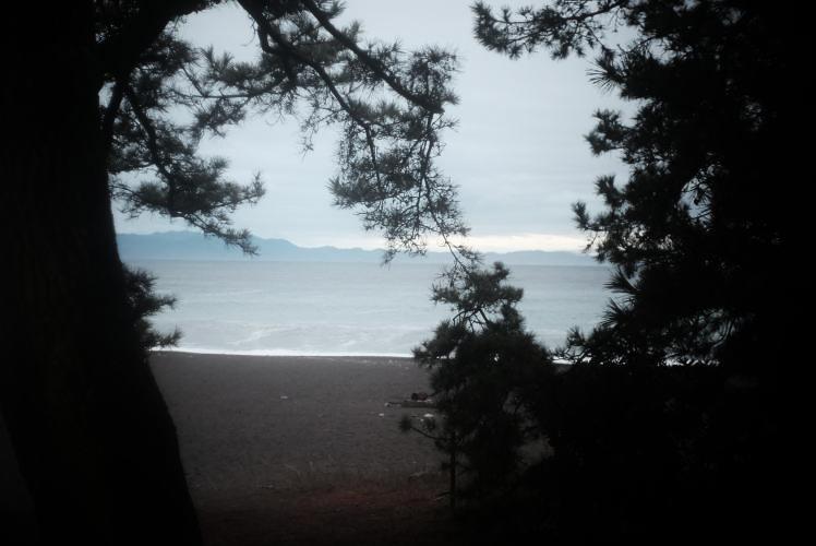 miho beach (雨の三保)