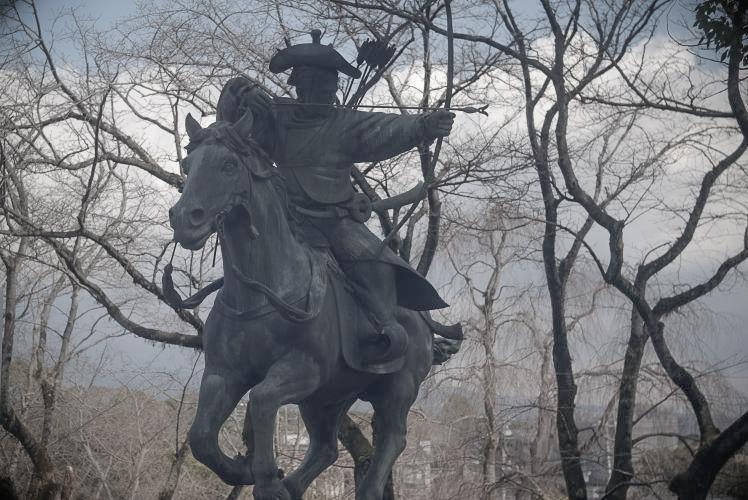 Yabusame statue at Fujisan Hongu Sengen Taisha