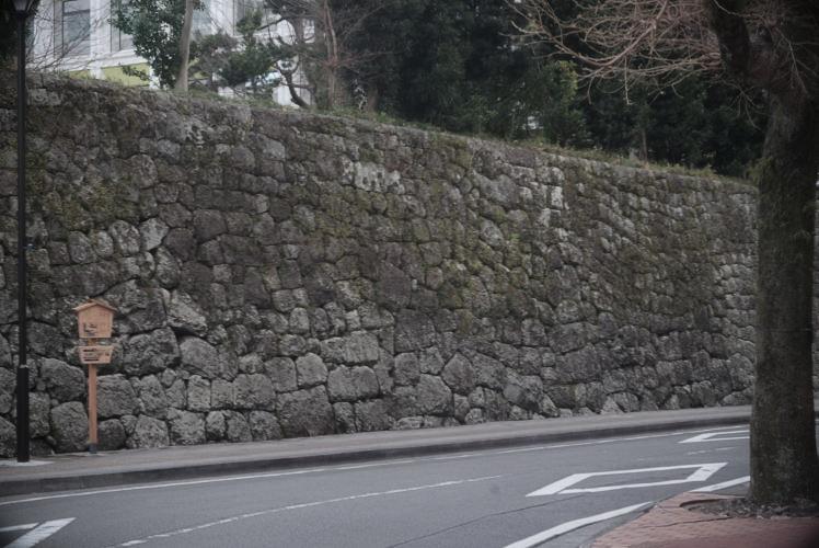 Imagawa's stone wall at Sumpu Castle Park