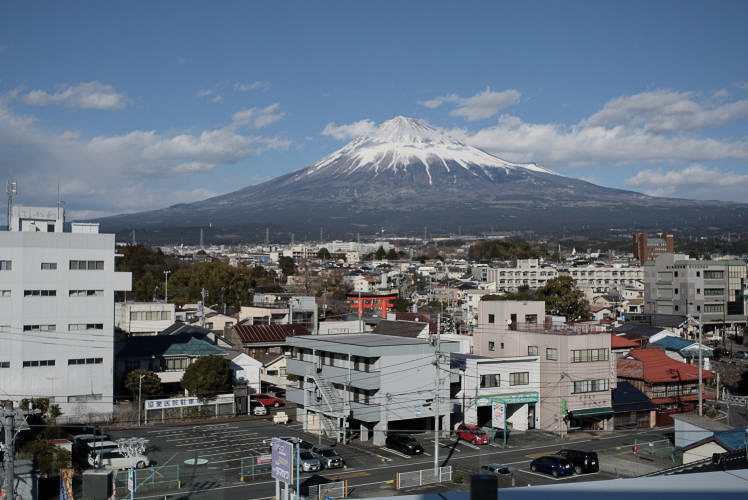 Mt. Fuji as seen from the World Heritage Centre, Shizuoka (静岡県富士山世界遺産センター)