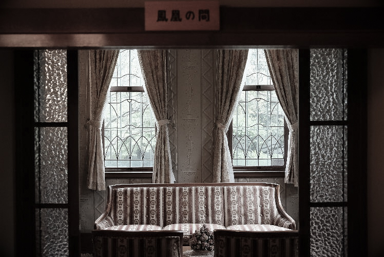 The Western-style room in Yamamoto-tei (柴又、山本亭の鳳凰の間)