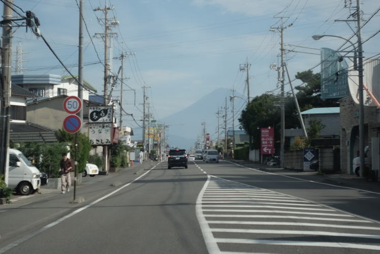 Mount Fuji seen from Miho Town