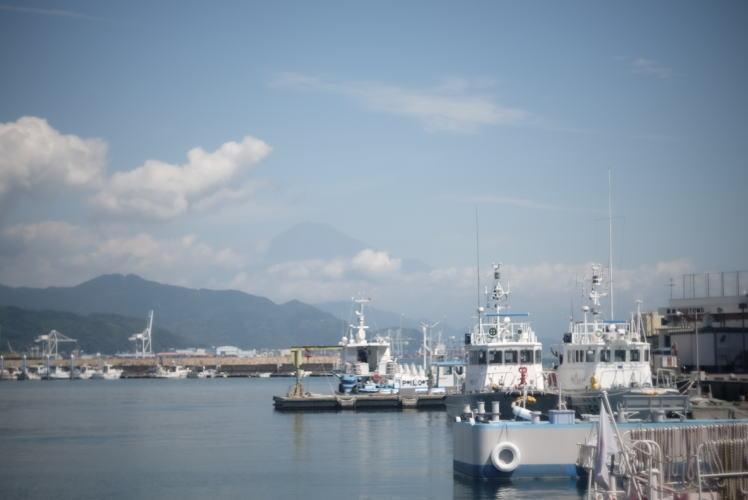 Mount Fuji seen from Shimizu Port